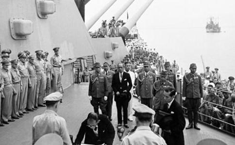 古代抗日战争中日本投降的签字仪式为何选在一艘军舰上?