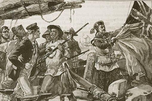 英国舰队闯入虎门海口,第