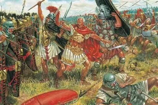 哪一场战斗让凯撒成为了古罗马四大名将之一?