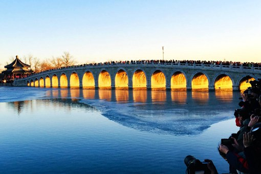 颐和园十七孔桥现金光穿洞奇景怎么回事?为什么会出现金光穿洞?