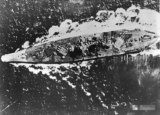 大和号战列舰沉没全过程照片图集