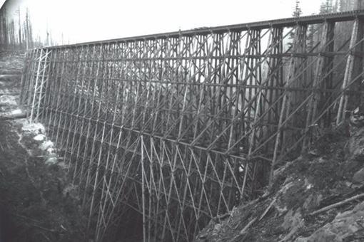 19世纪美国的木架桥是怎样的?一组木架桥老照片