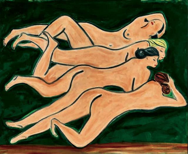 《绿色背景四裸女》为何那么值钱?赏析《绿色背景四裸女》
