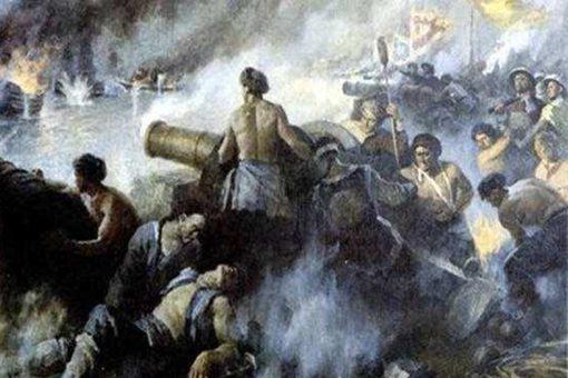 鸦片战争清朝火炮与英国火