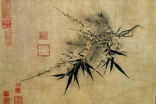 什么植物可以出现在《岁寒三友图》里