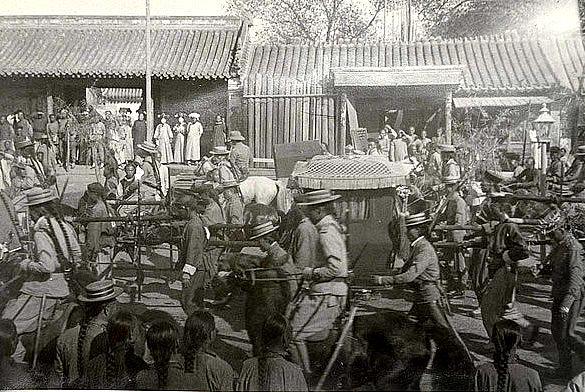 蒙古王爷进京老照片